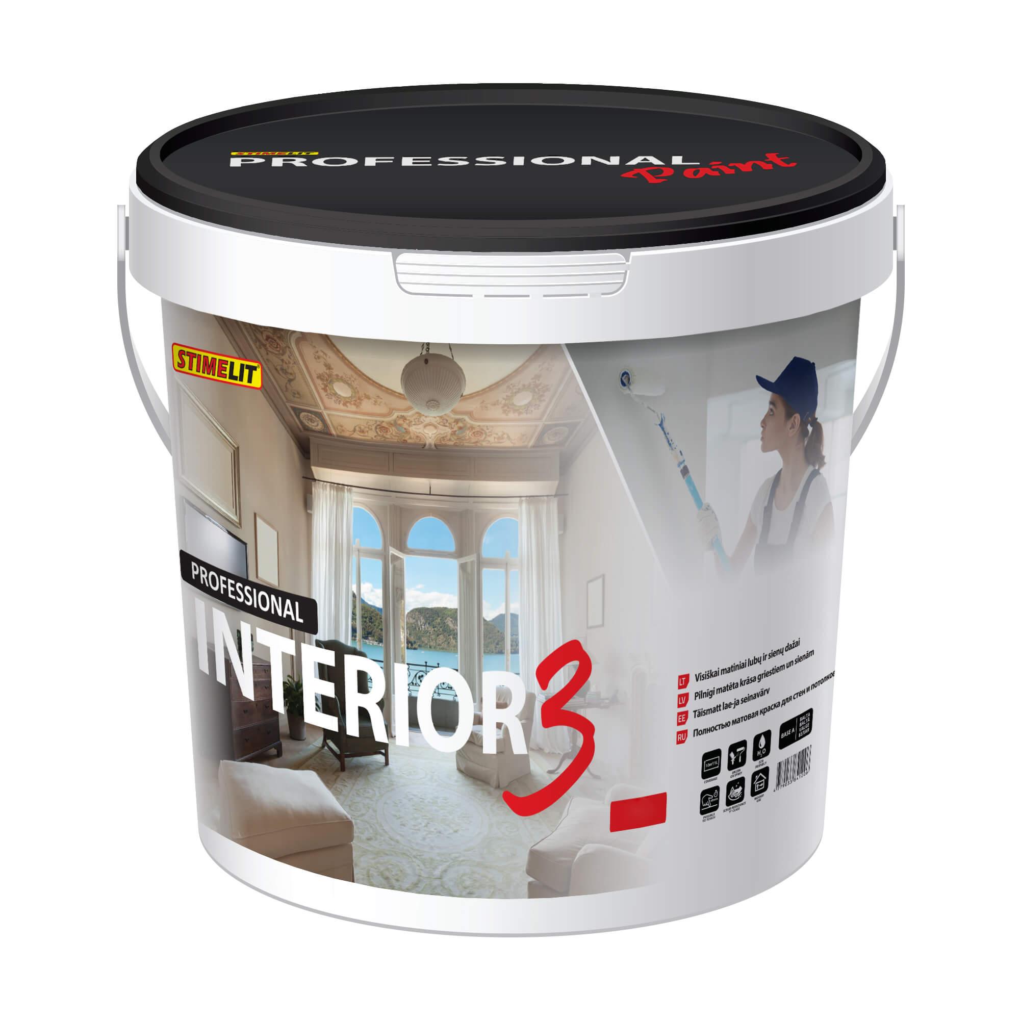 INTERIOR 3 Visiškai matiniai lubų ir sienų dažai