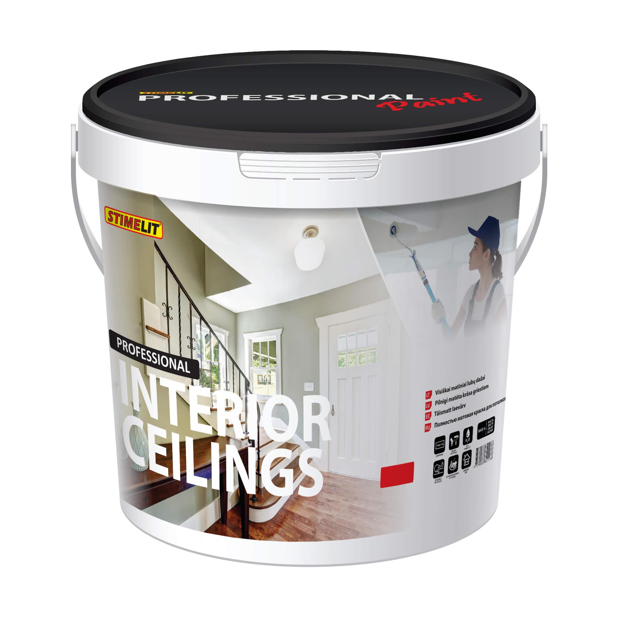 INTERIOR CEILING Visiškai matiniai lubų dažai