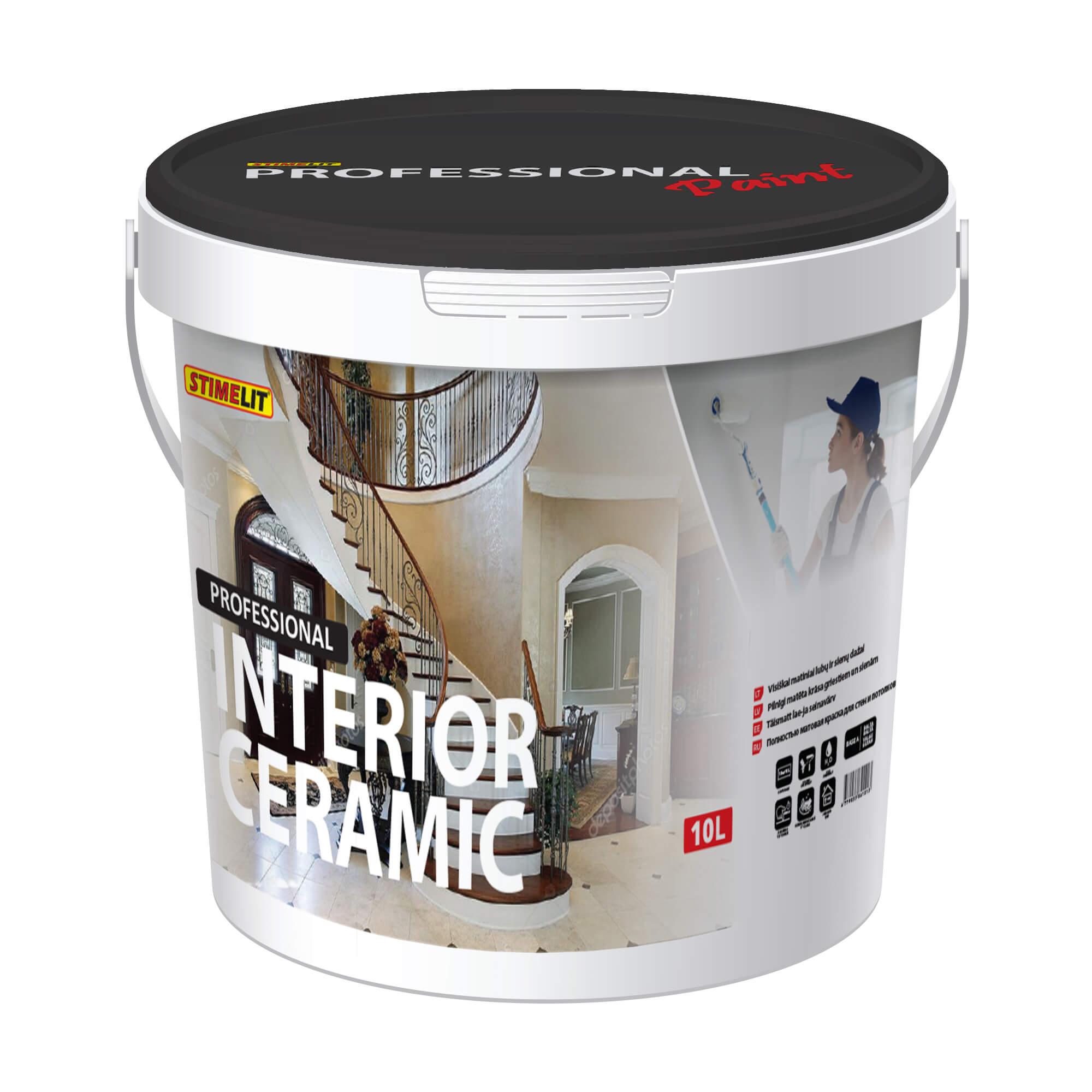 INTERIOR CERAMIC Pilnīgi matēta krāsa griestiem un sienām