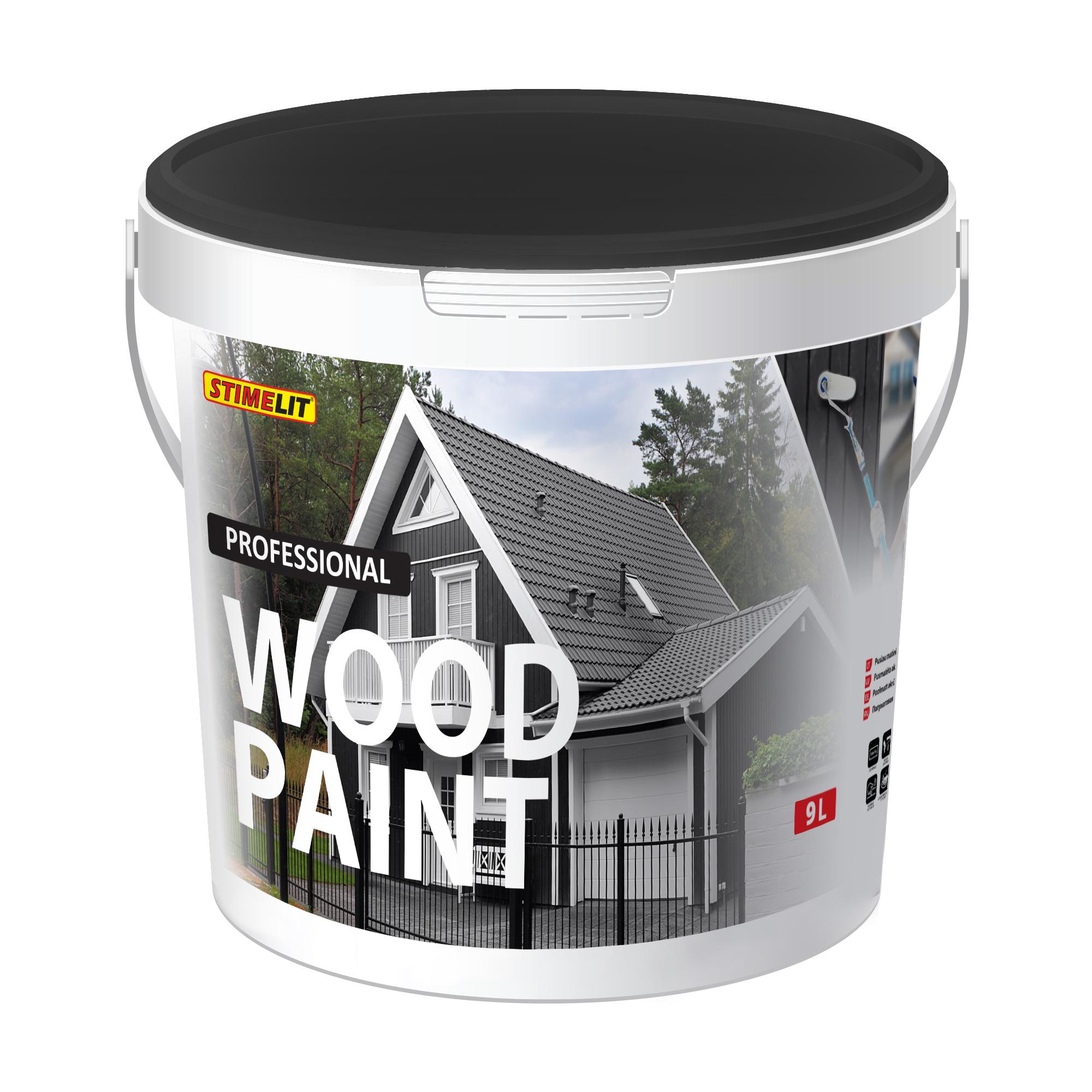 WOOD PAINT Pusiau matiniai akriliniai medienos dažai