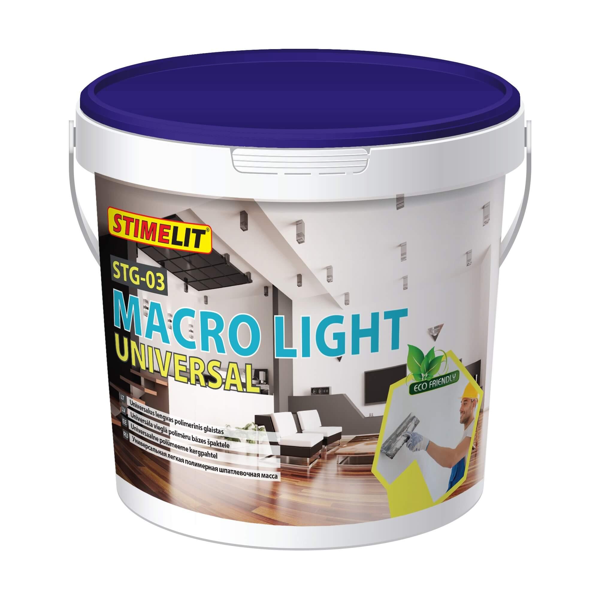 STG-03 MACRO LIGHT UNIVERSAL Universalus lengvas polimerinis glaistas