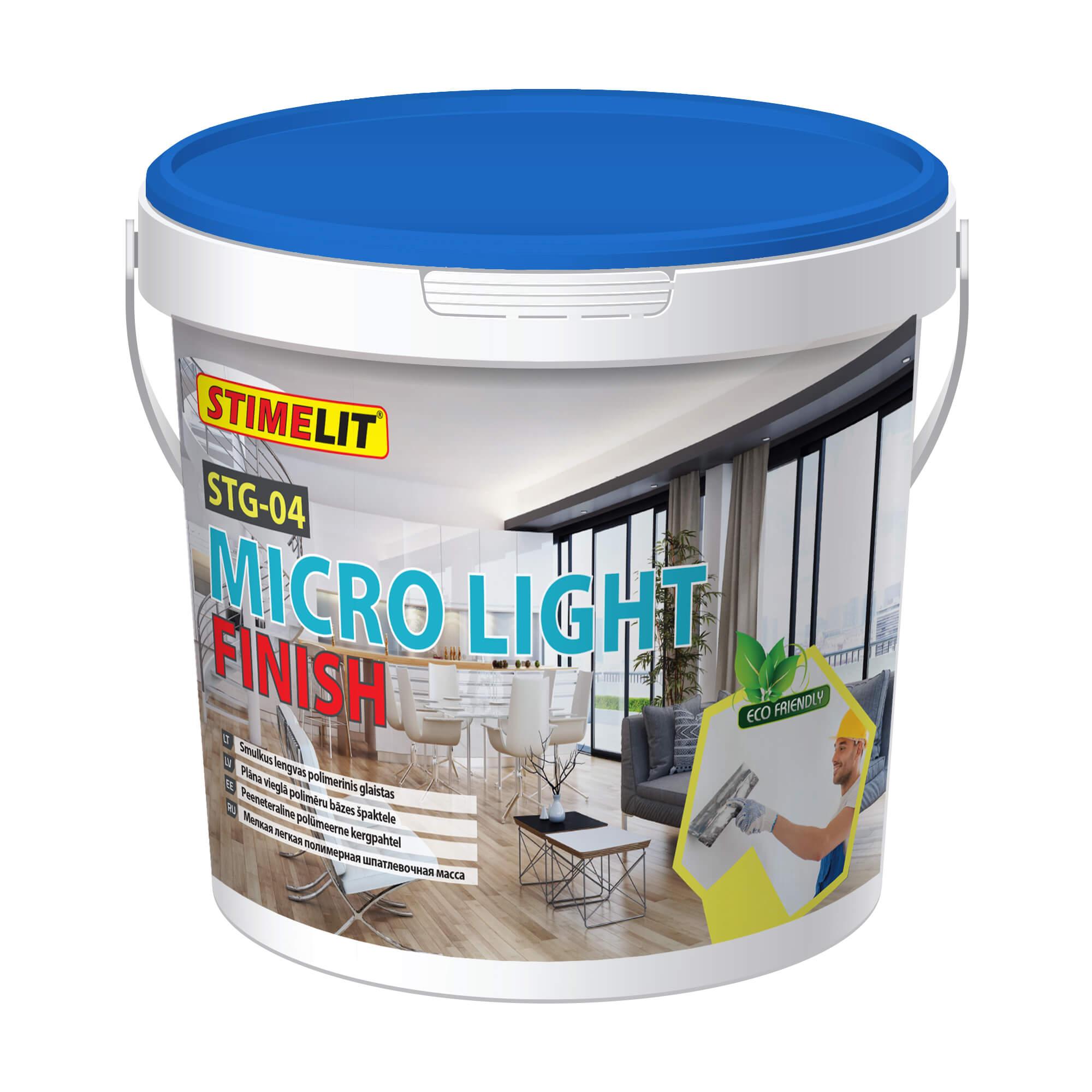 STG-04 MICRO LIGHT FINISH Smulkus lengvas polimerinis glaistas
