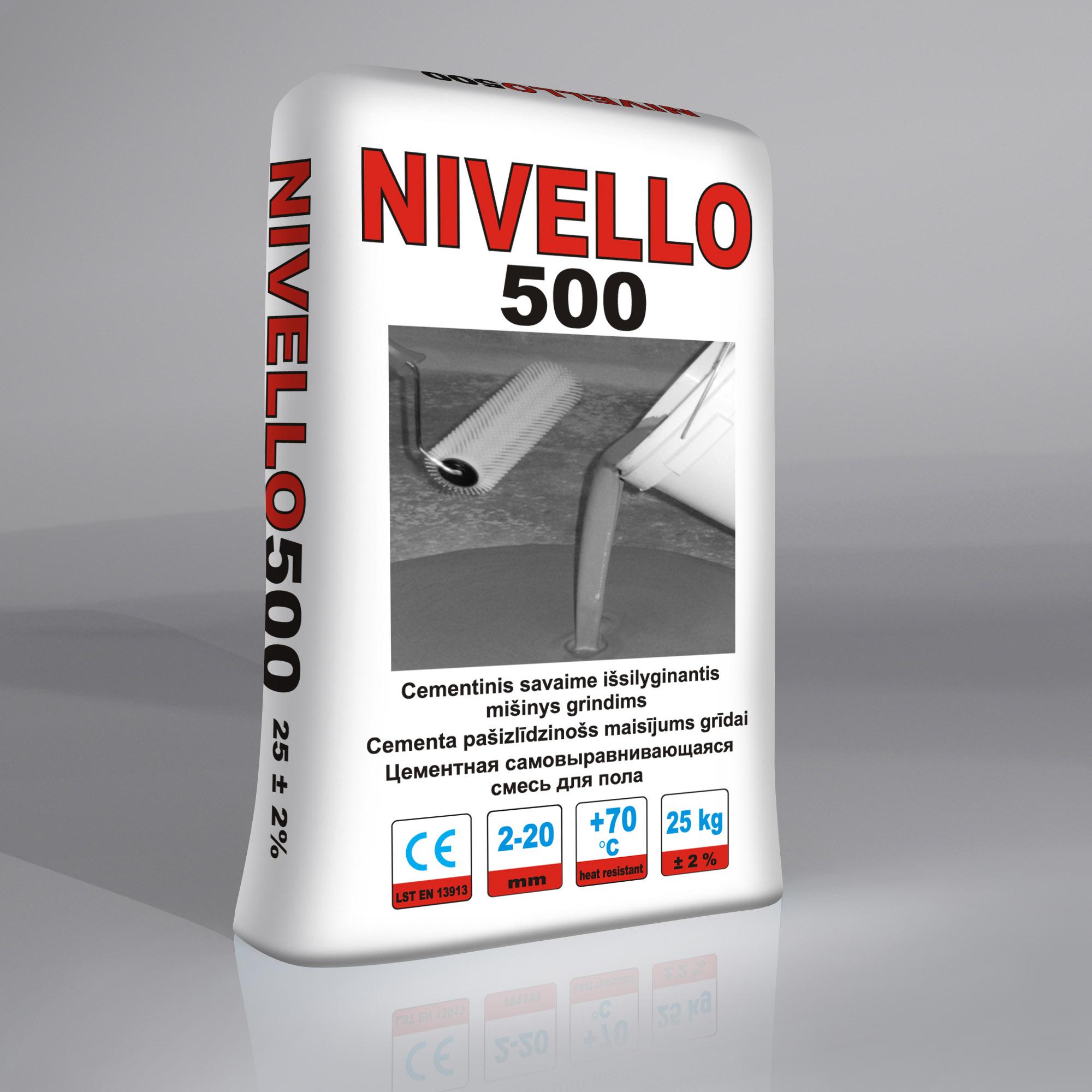 NIVELLO500 Pašizlīdzinošais maisījums grīdām