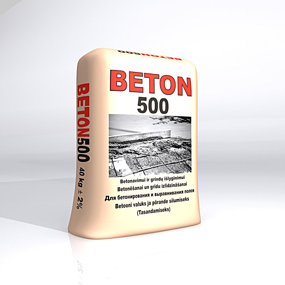 BETON500 Sausas betonas