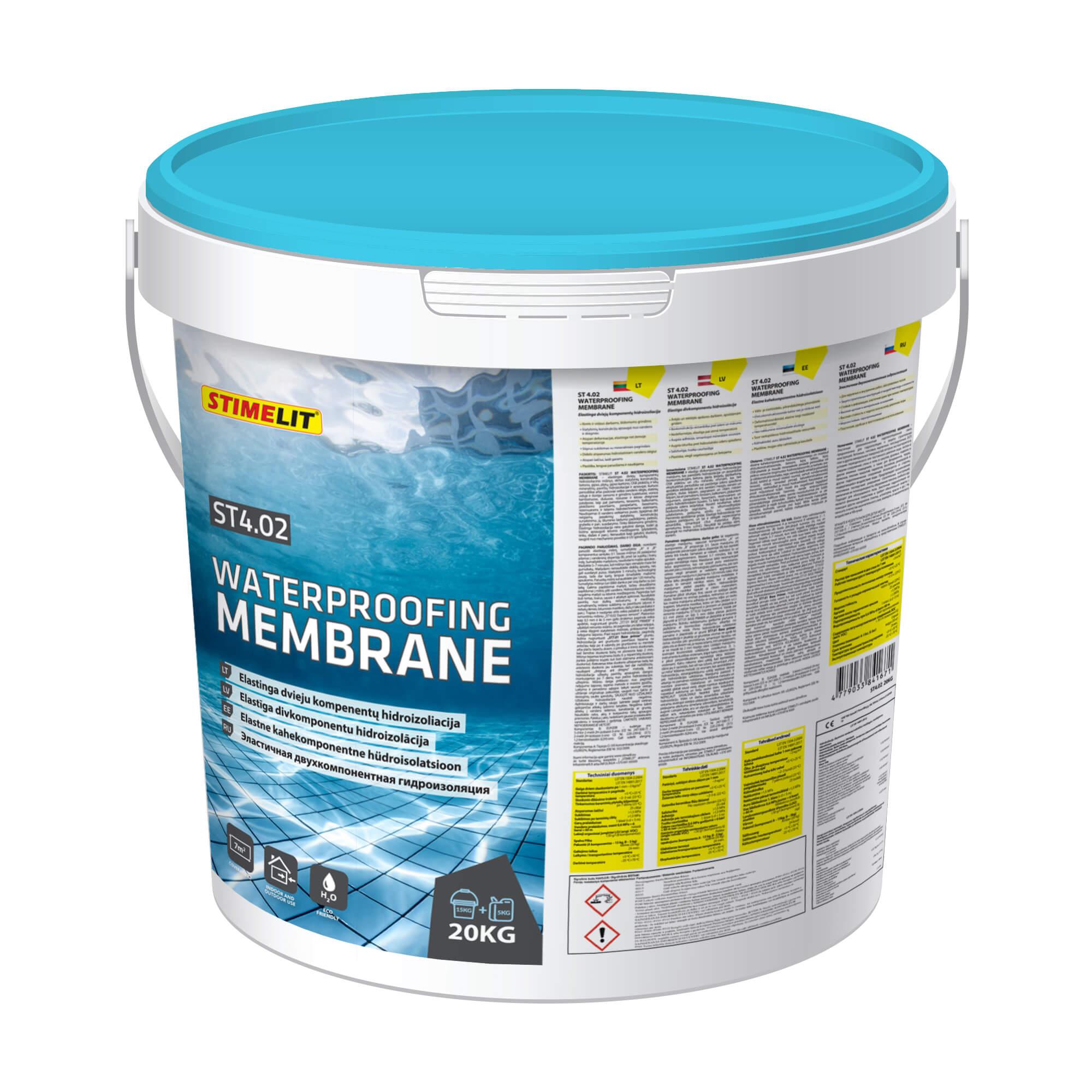 ST4.02 WATERPROOFING MEMBRANE Elastīga divkomponentu hidroizolācija