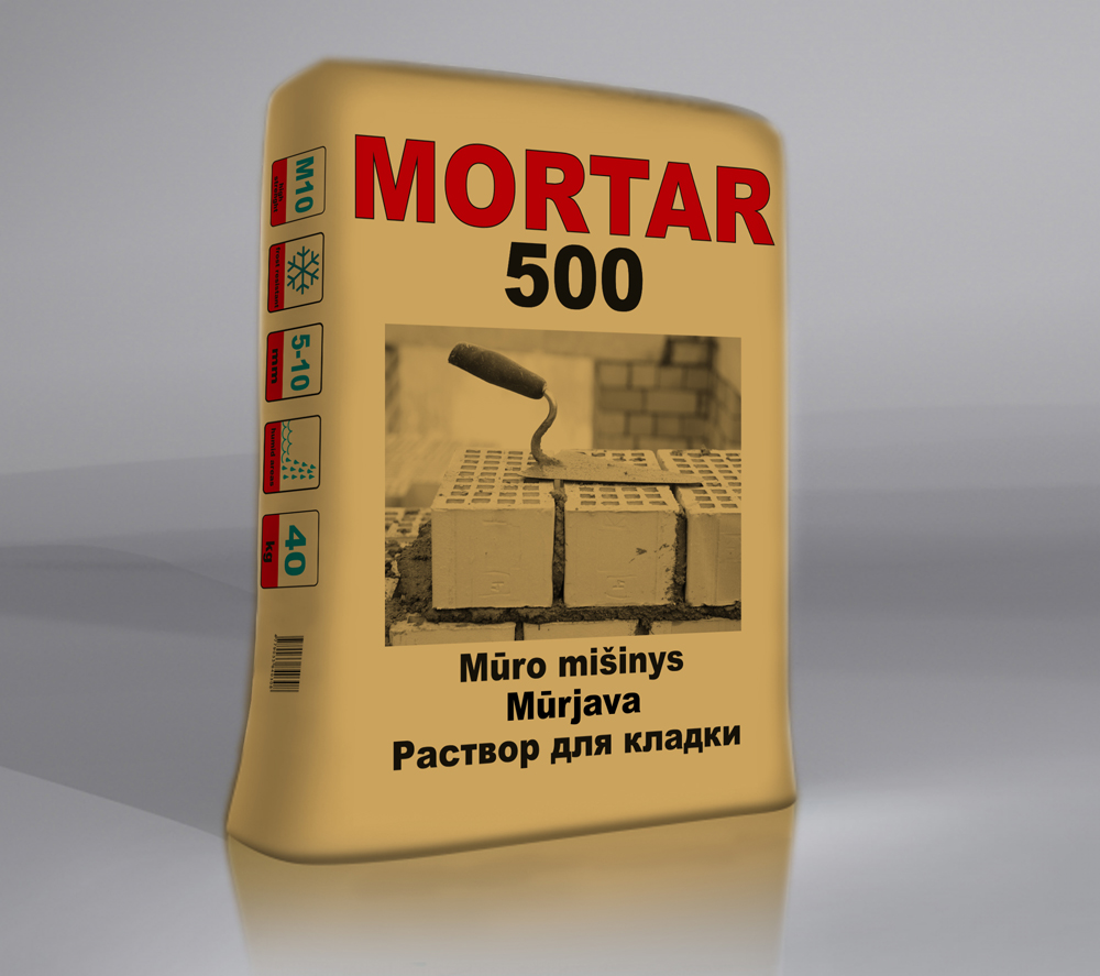 MORTAR500 Mūro mišinys
