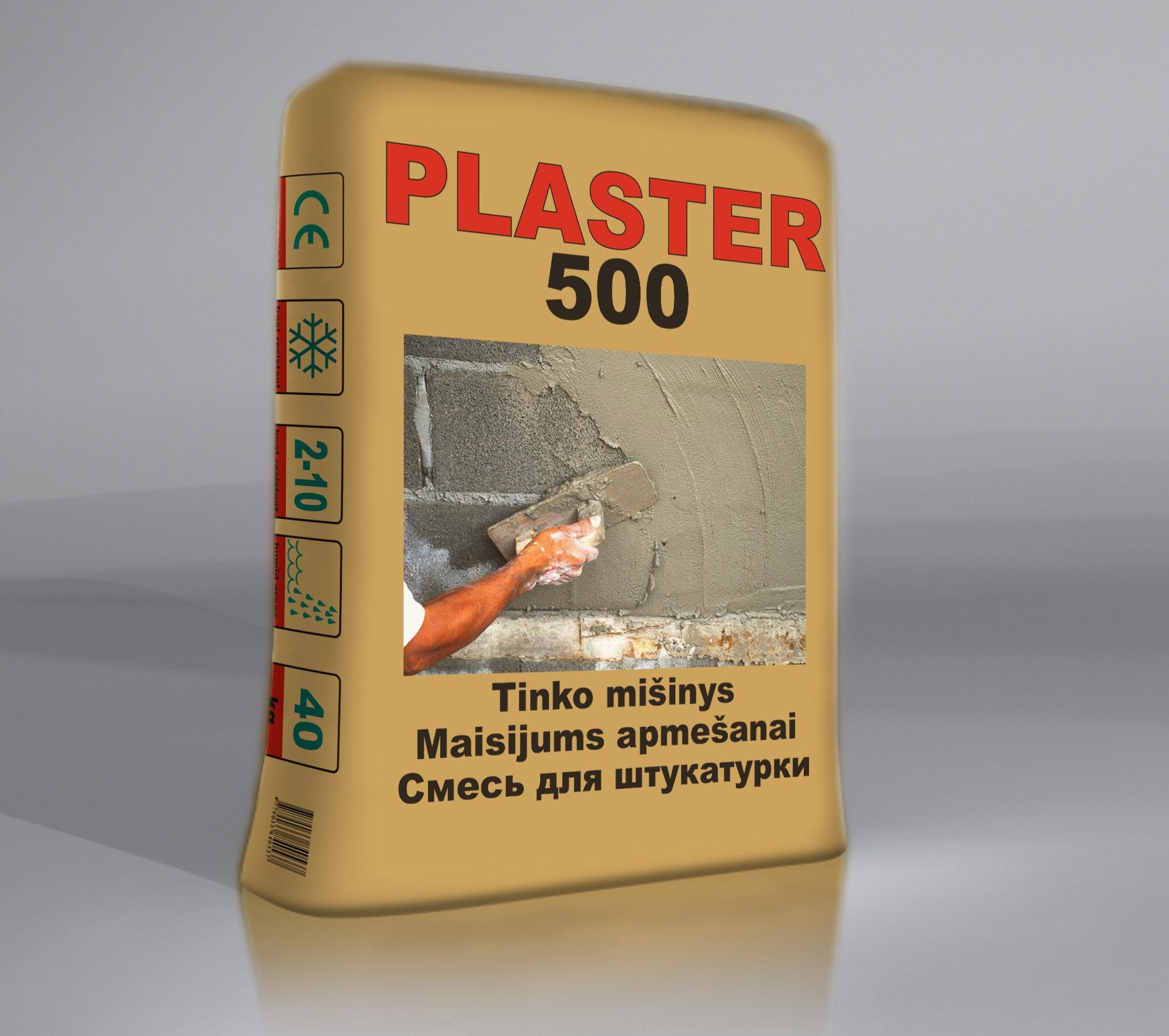 PLASTER500 Biezkārtainais apmetuma maisījums