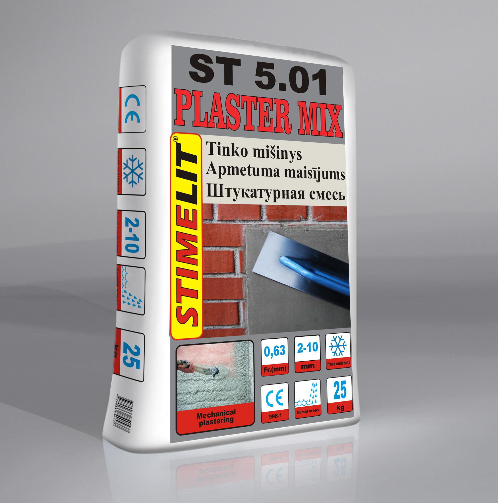 ST5.01 Plonasluoksnis tinko mišinys