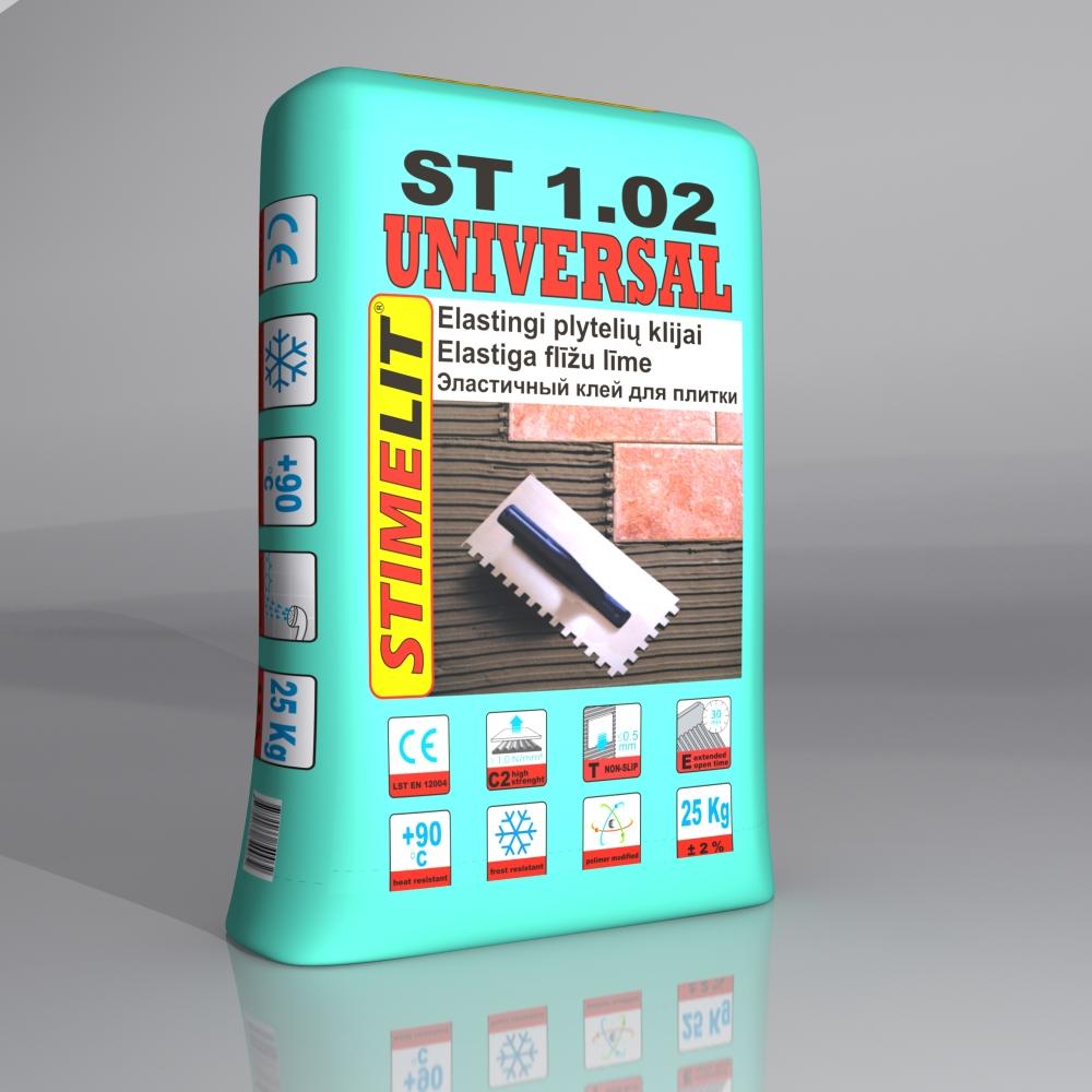 ST1.02 UNIVERSAL Elastingi plytelių klijai