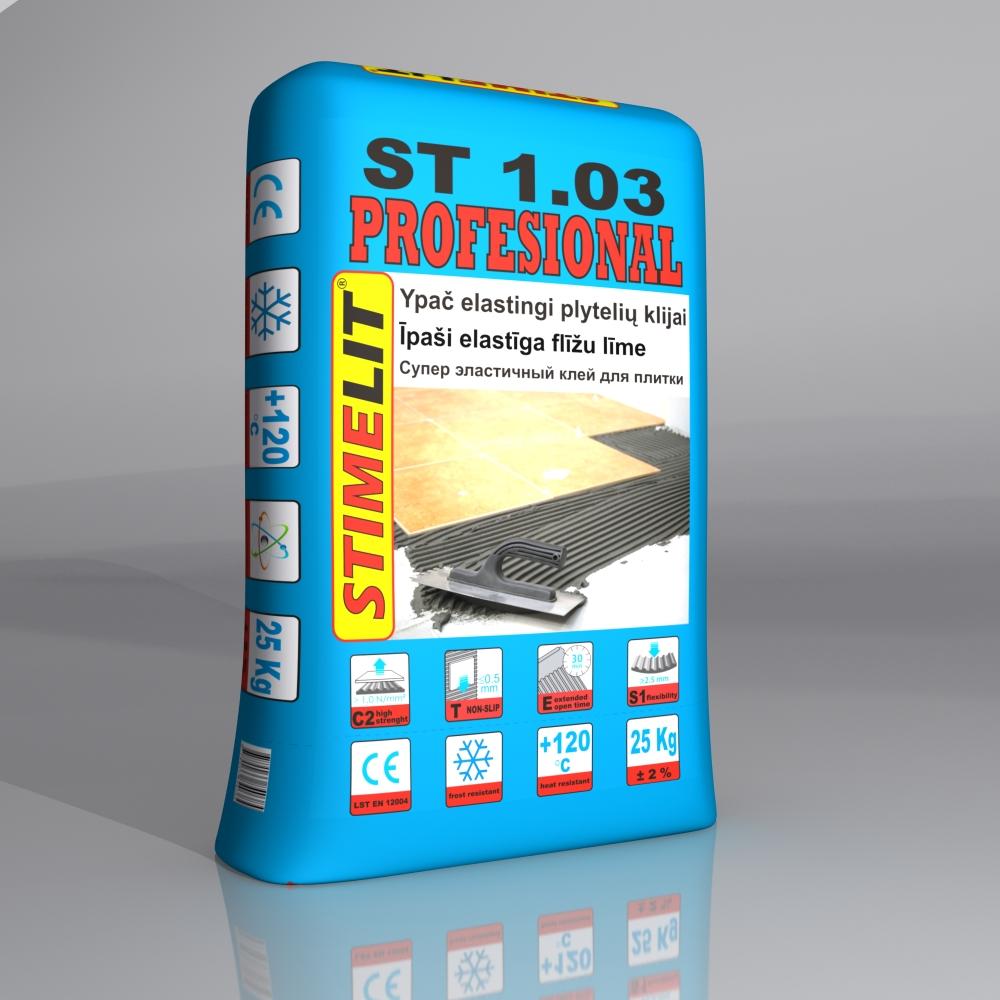 ST1.03 PROFESIONAL Ypač Elastingi plytelių klijai