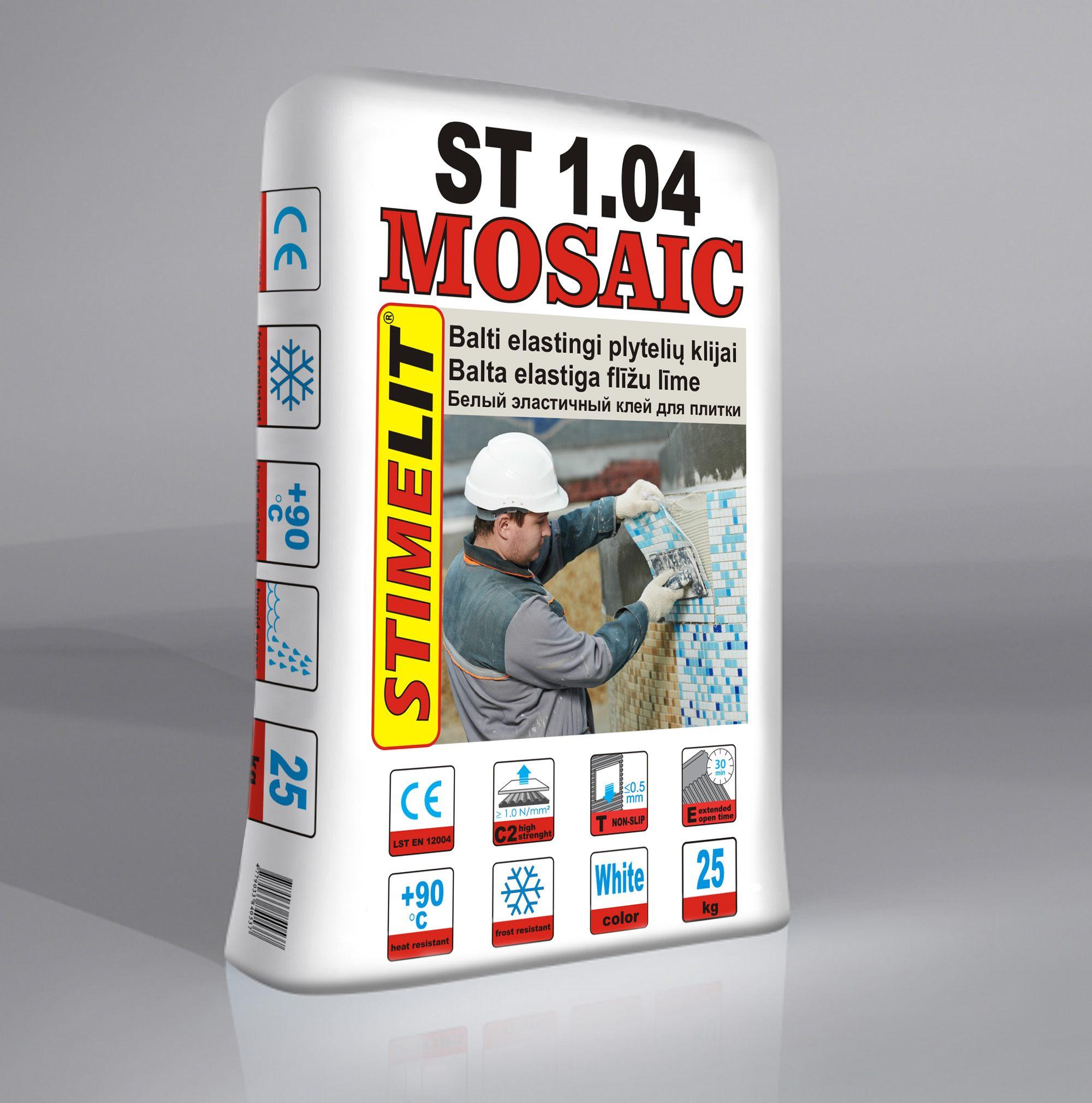 ST1.04 MOSAIC Balti elastingi plytelių klijai
